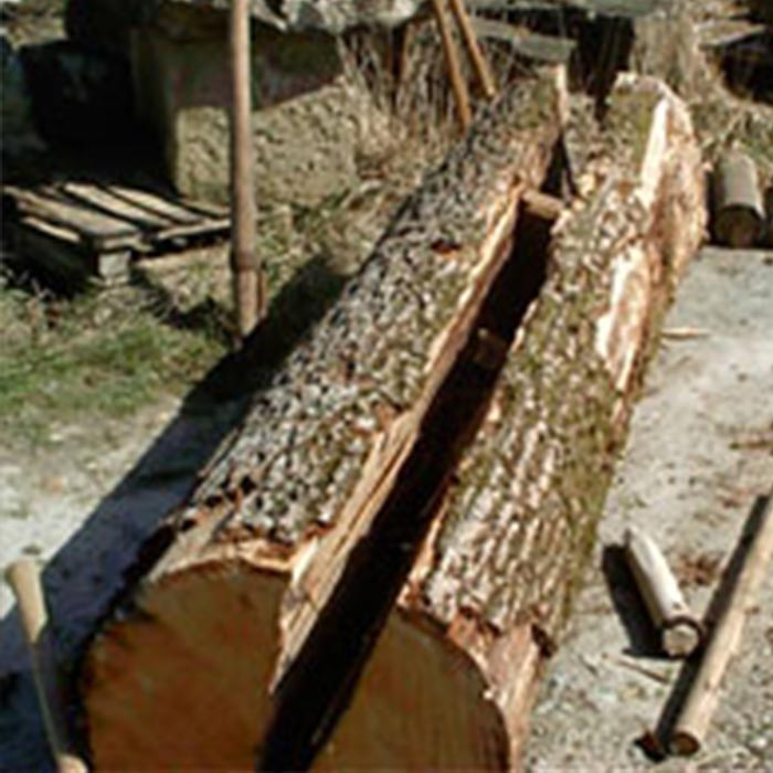 Holzbohlenherstellung